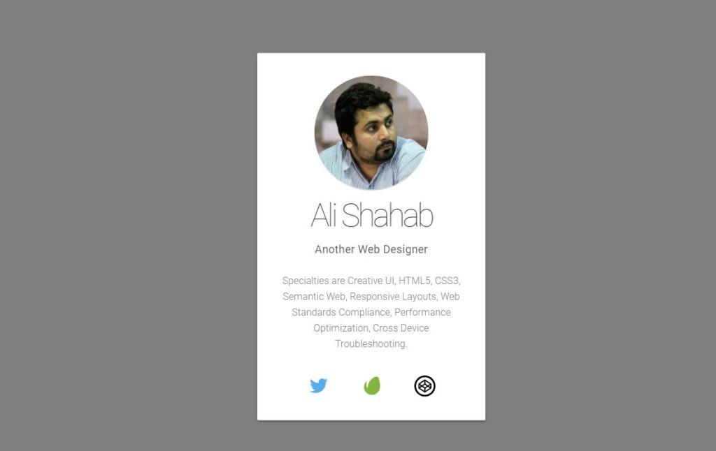 profile card example