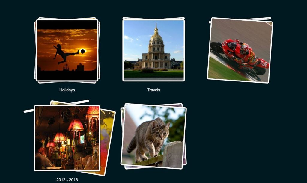 Pure CSS Albums gallery