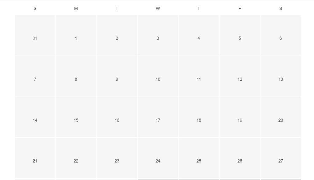 Responsive calendar grid