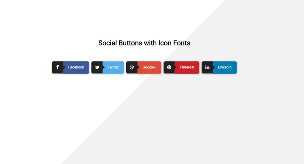 Bootstrap social media share buttons icon fonts