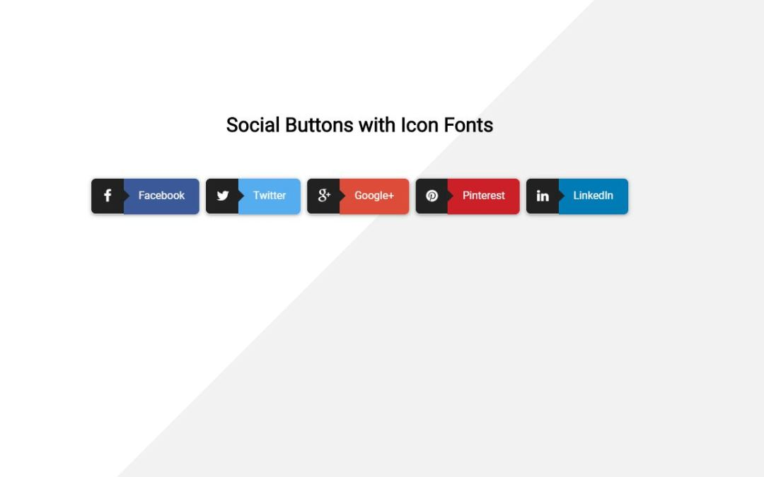 Bootstrap Social Share Buttons Examples