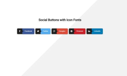 20+ Bootstrap Social Share Buttons Examples