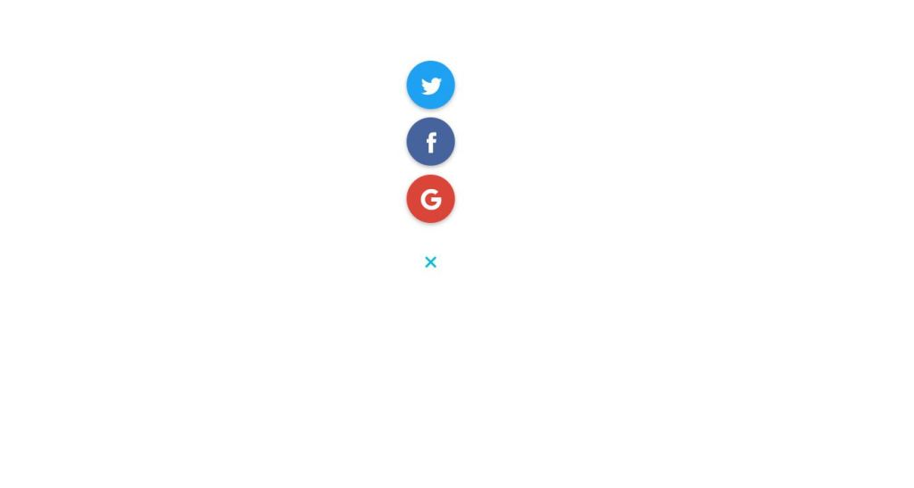 Bootstrap social media share buttons example