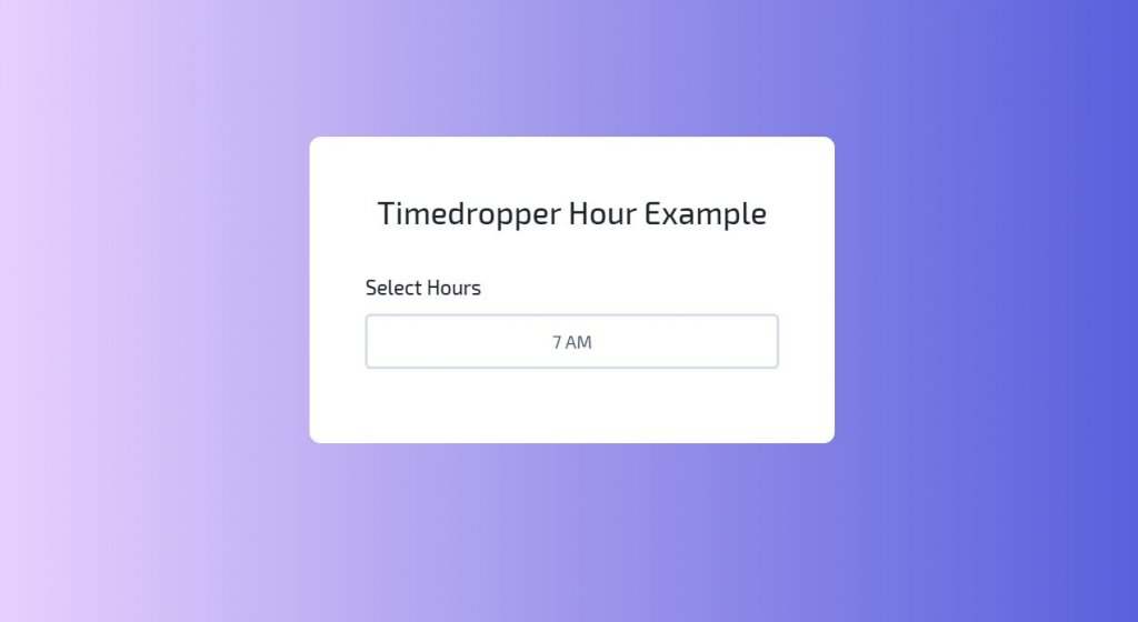 Timedropper example