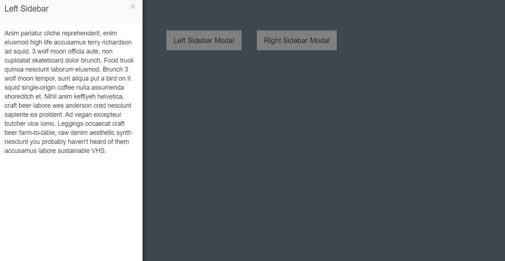 Bootstrap modal box window slider