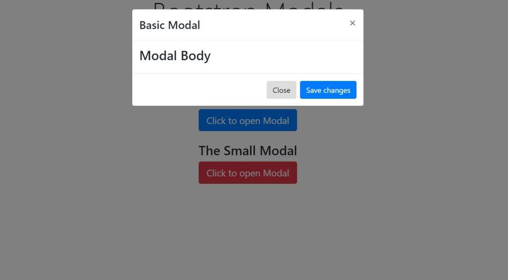 Bootstrap 4 modal box window