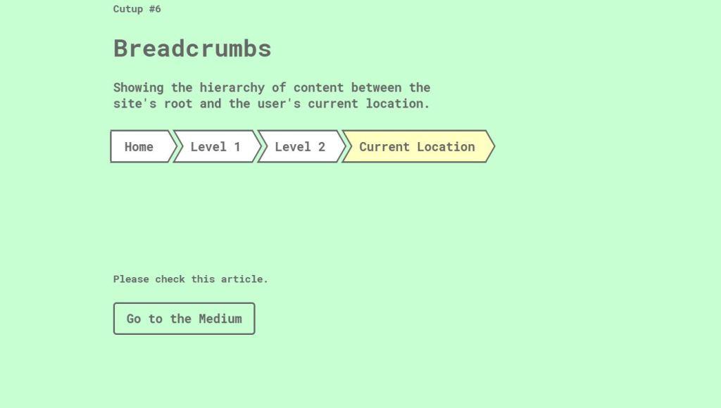 Breadcrumbs Exampl