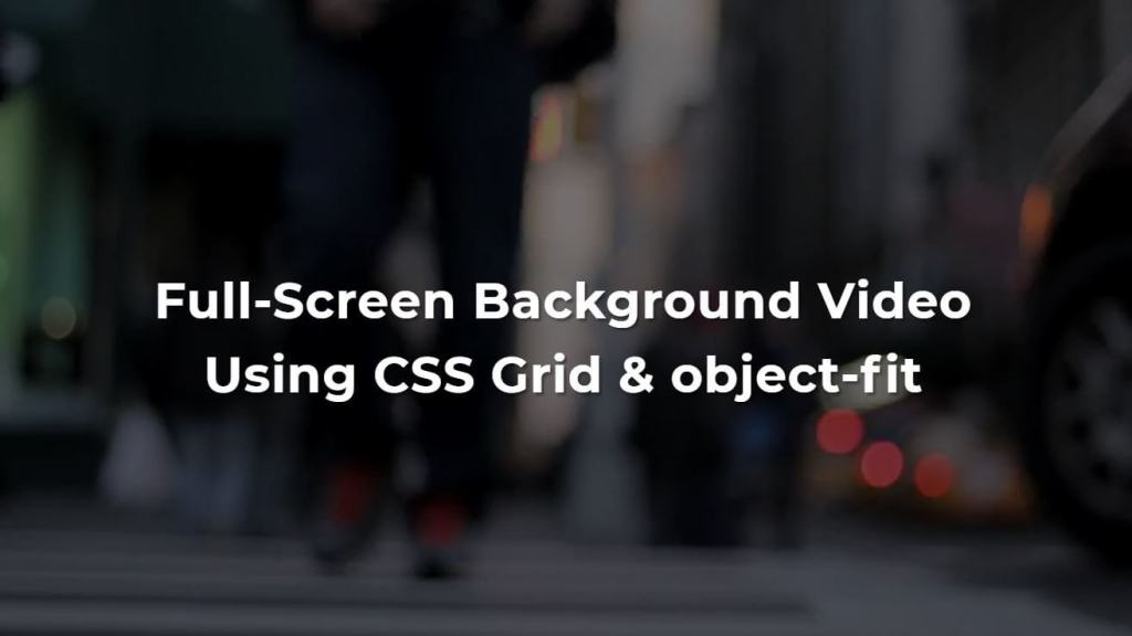 Full screen Bootstrap video background