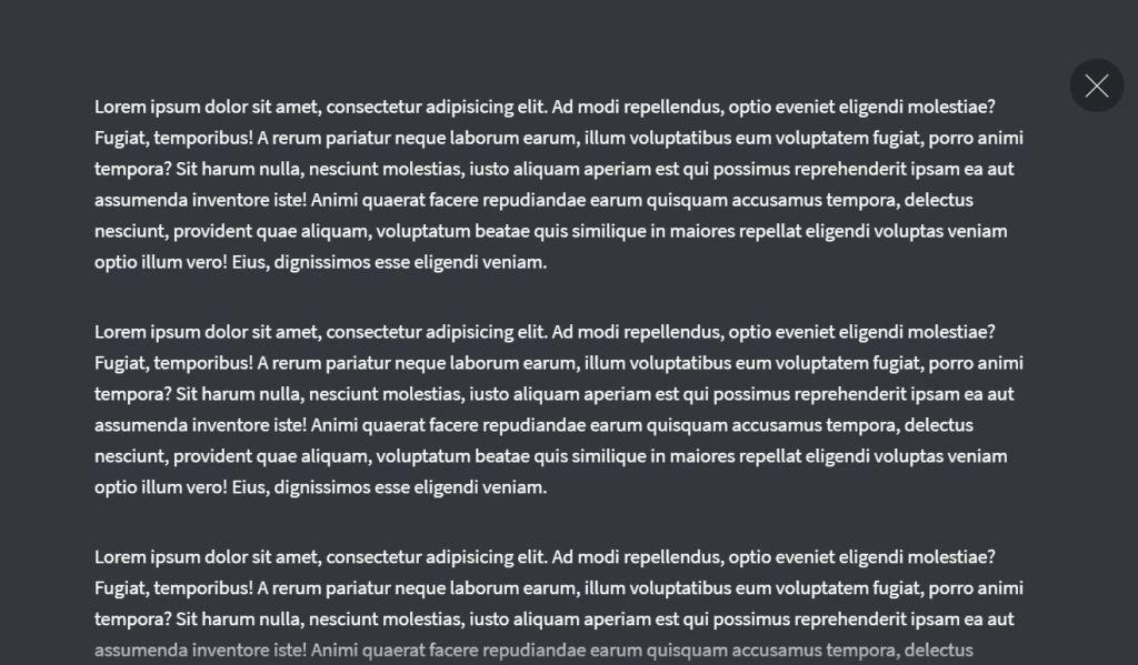 Morphing Modal Window Example