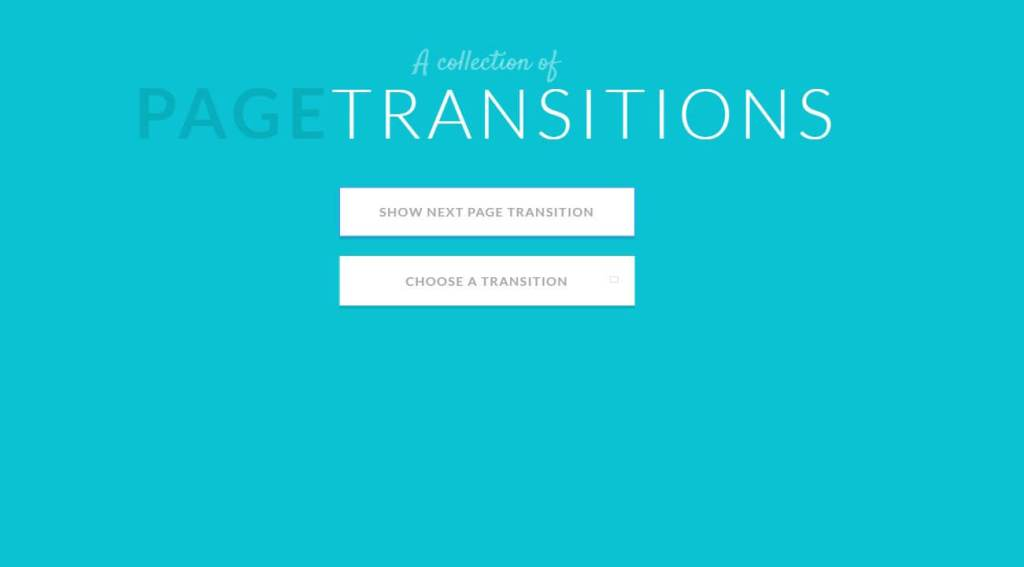 CSS Bootstrap page transitions effect