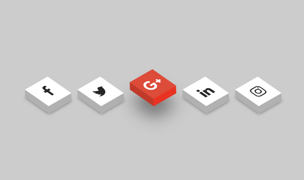 Animated 3D Bootstrap Social Media Icons