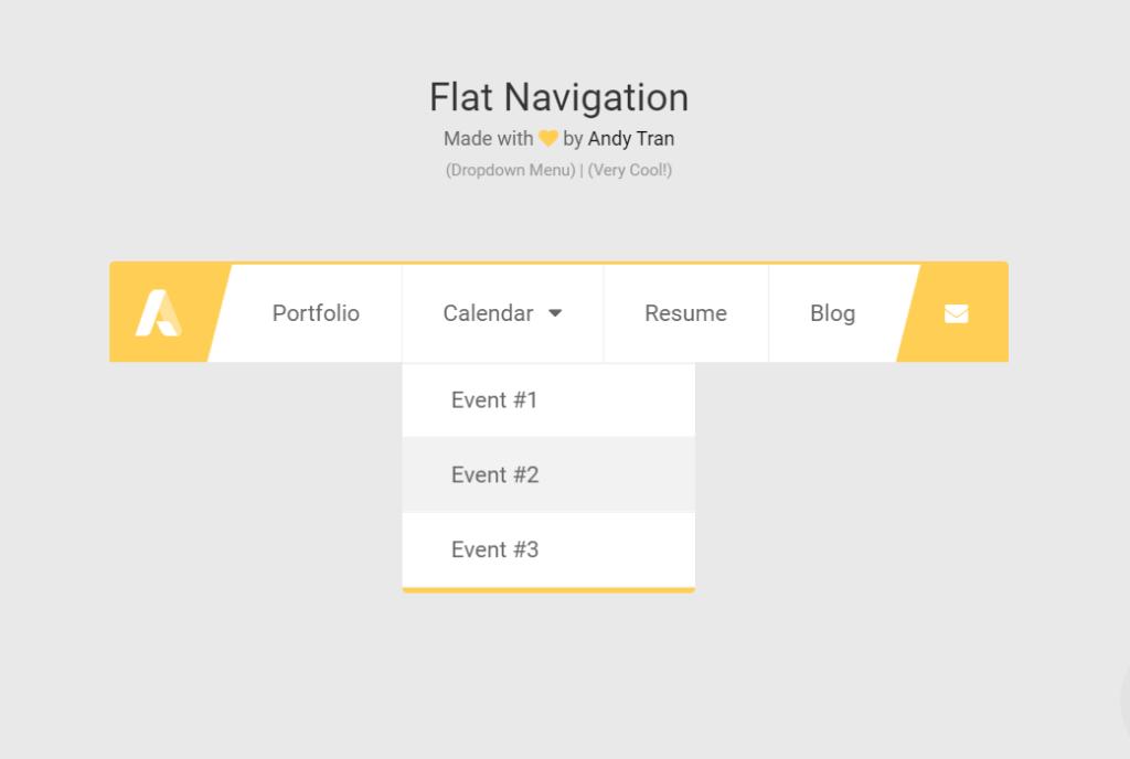 Flat Java Script Navigation Menu Code Snippet
