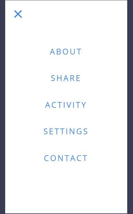 Amazing JavaScript mobile Nav menu example