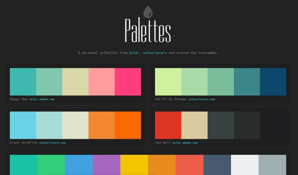 Colour Palettes Examples