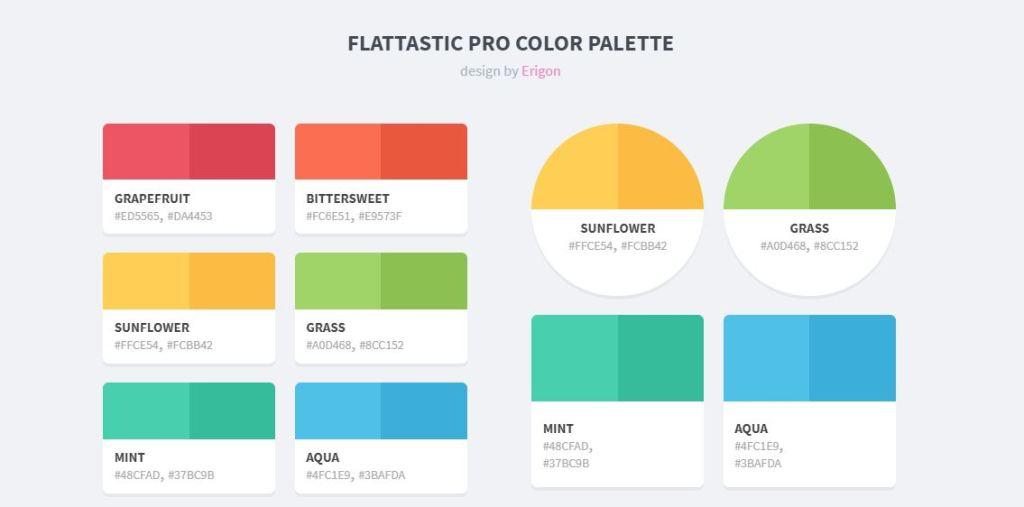 Flattastic Bootstrap color palette