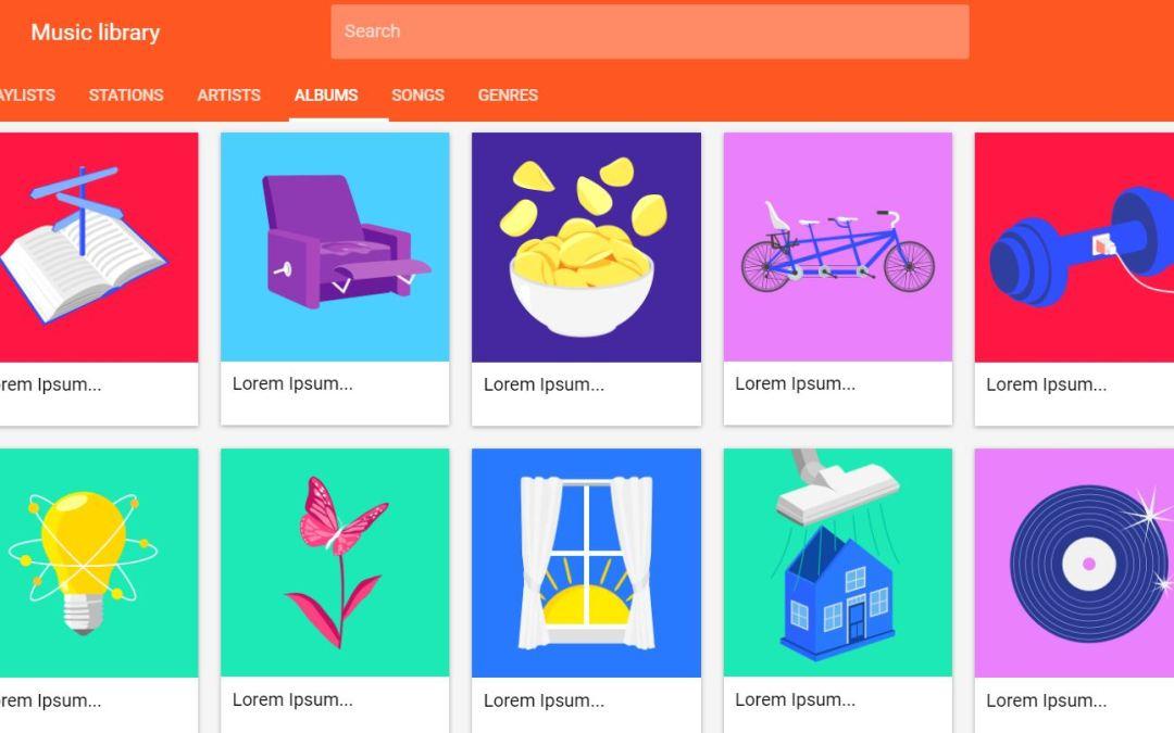 JavaScript Thumbnail Design Examples
