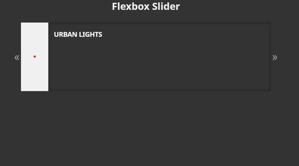 HTML CSS JavaScript Flexbox Sliders
