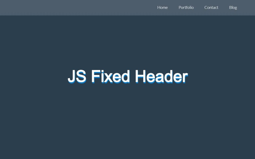 15+ JavaScript Fixed Header Examples