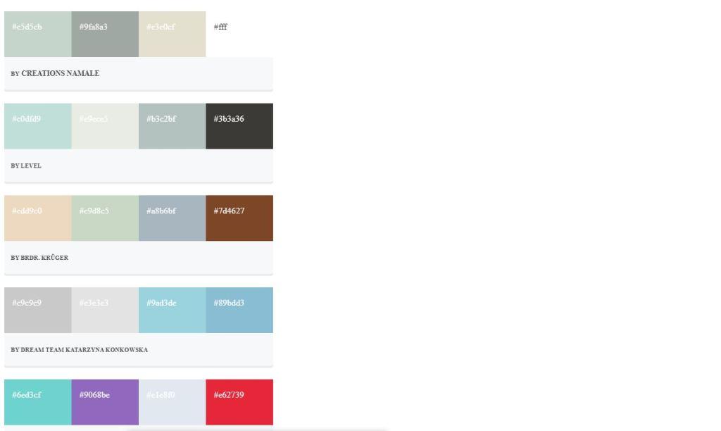 material design Bootstrap color palette