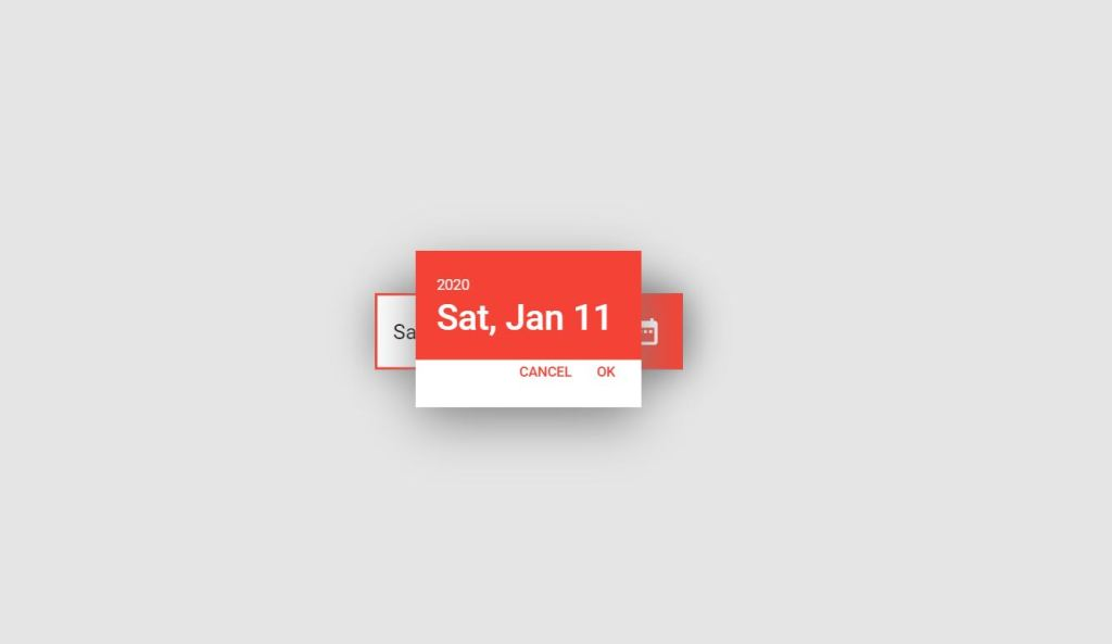 Material Design Website Date Year Pickers