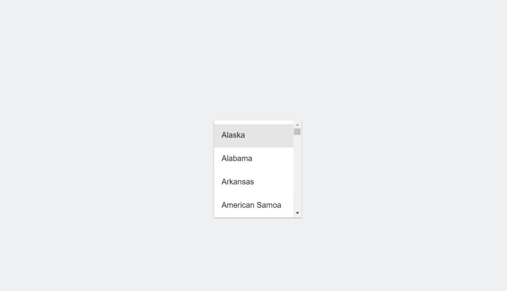 Material Design SelectBox