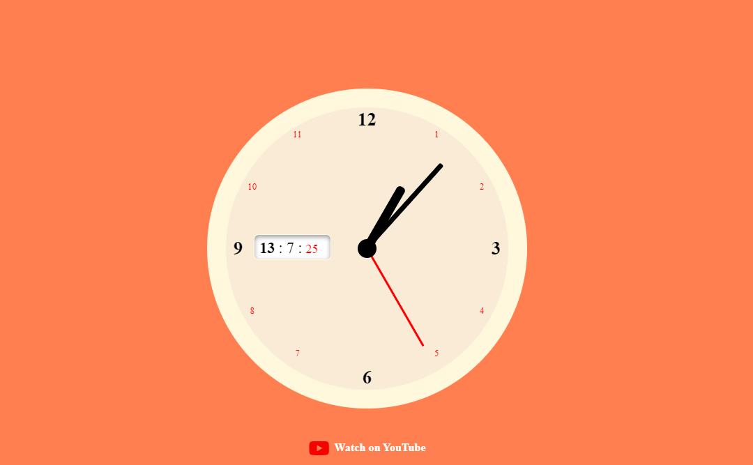 30+ JavaScript Clock Design Code Examples