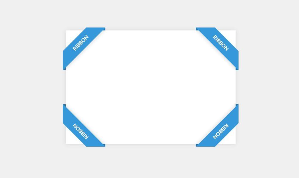 Bootstrap Corner Ribbon Design Example