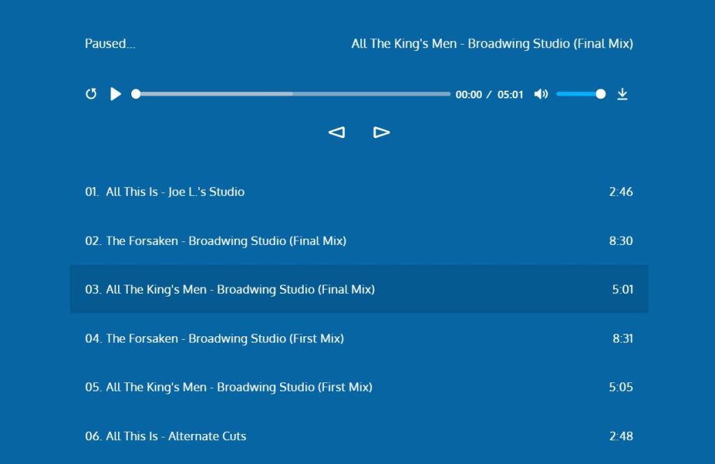 Audio Play mp3 sound Online App