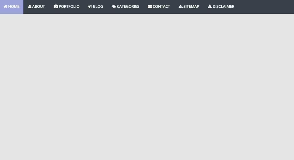 Javascript(JS) horizontal navigation menu example