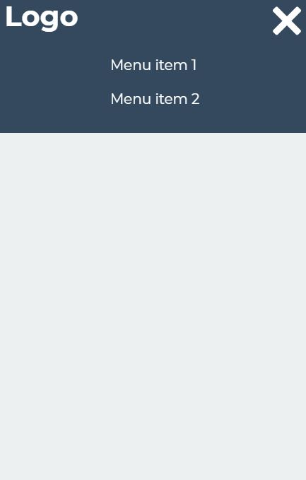 Simple Responsive Menu with Icon