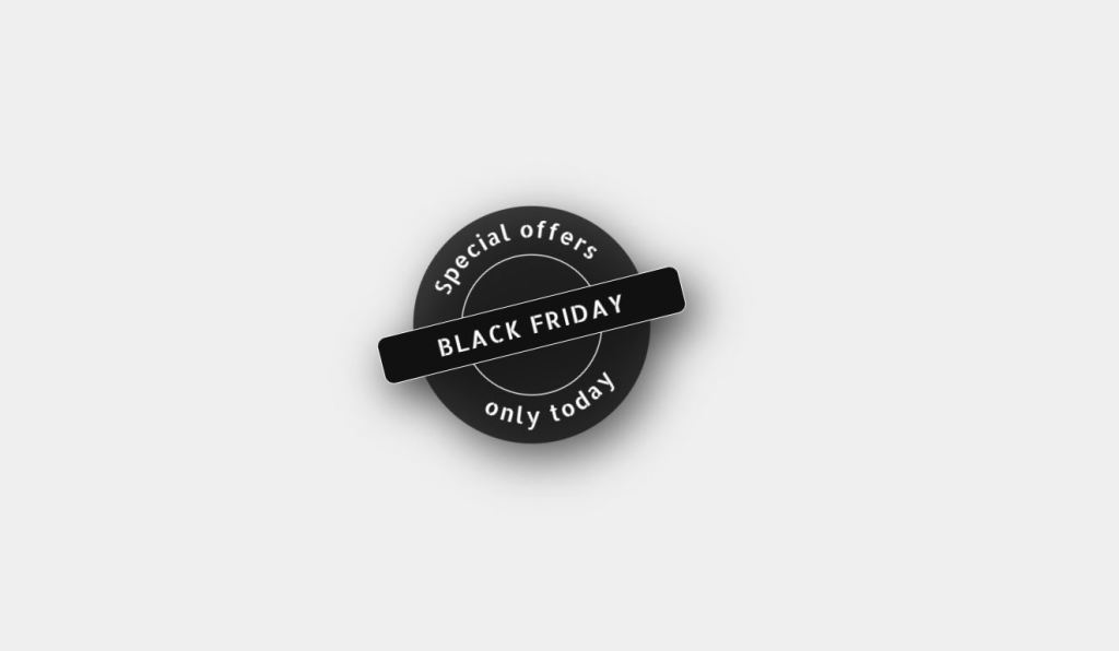 Responsive SVG Black Friday badge