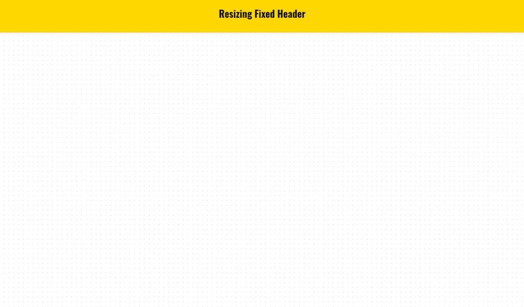JavaScript Fixed Header