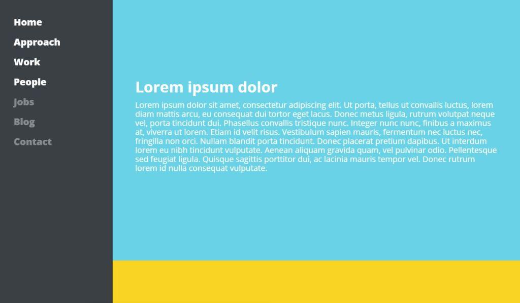 JavaScript Sidebar Menu layout