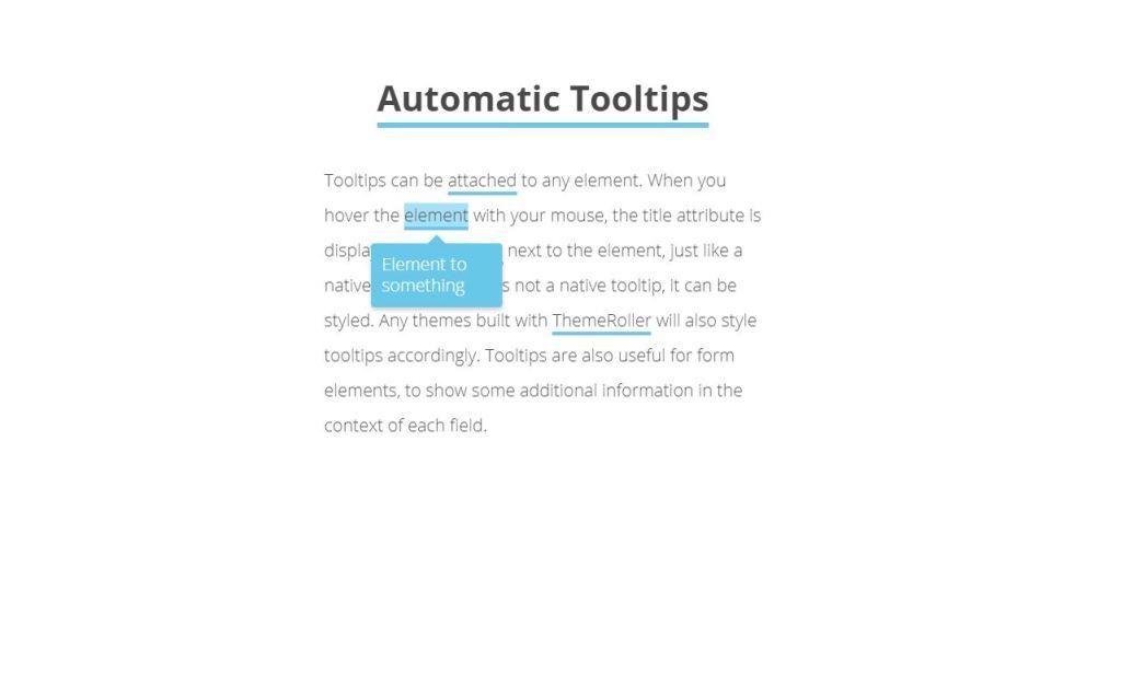 Automation JavaScript JS Custom tooltip example