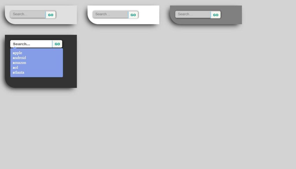 CSS3 JavaScript/JS Search box