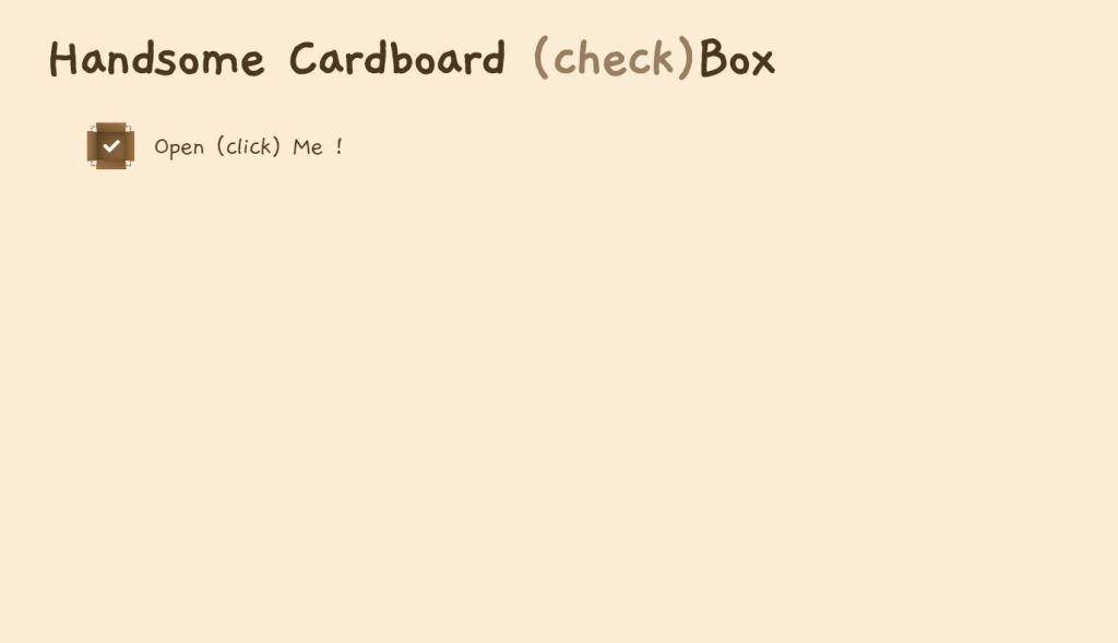 JavaScript/JS Cardboard Checkbox Example