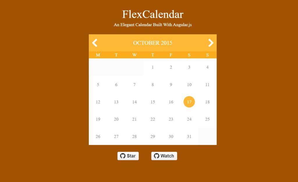 Flex JavaScript/JS Calendar