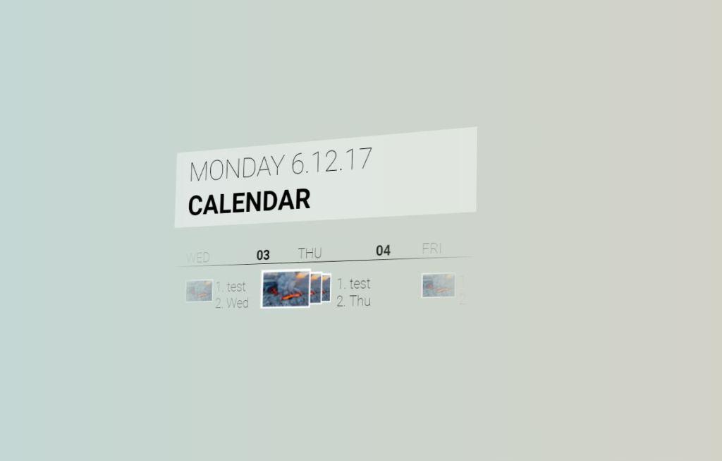 Fluent Design Calendar Concept