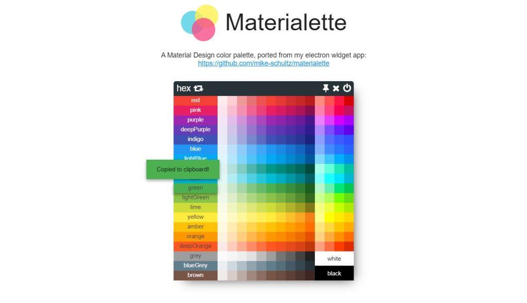 Material Design ColorPalette