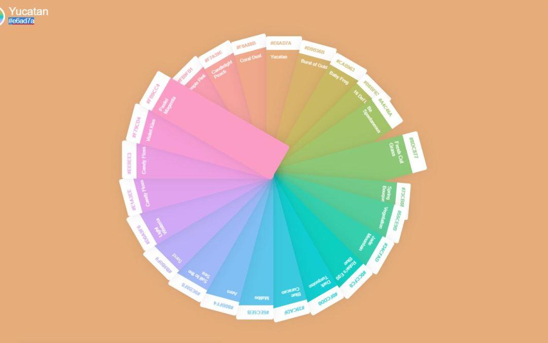 16+ JavaScript Color Palette Design Examples