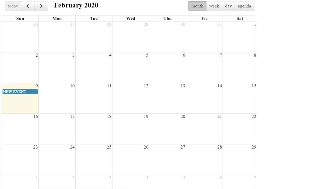 FullCalendar with Custom Agenda View