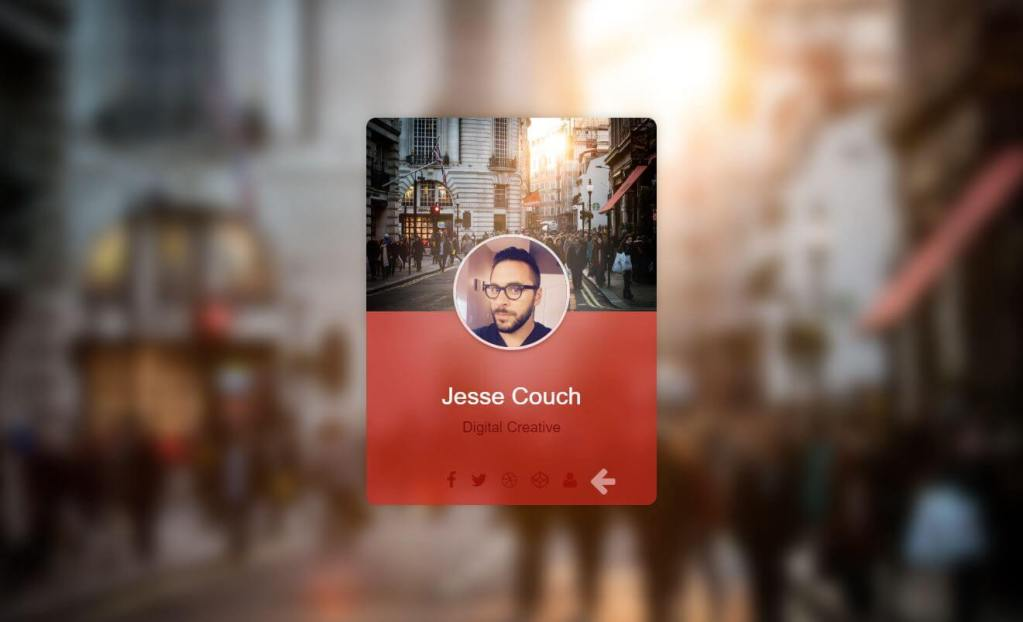 JS 2 Sided Digital Business Cards Example