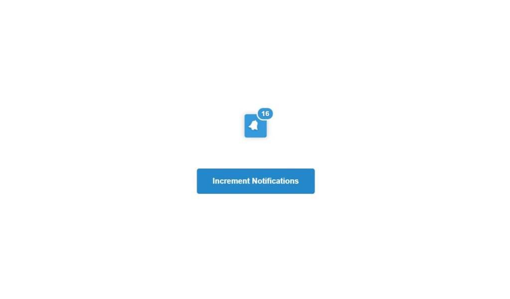 JavaScript Notification Alert Bell