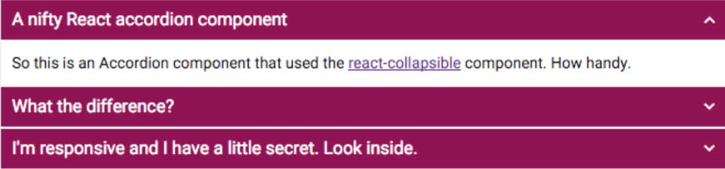 React Component to wrap Content in Accordion Element
