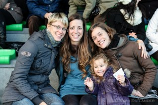 At the rugby game with the girls.