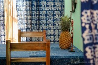 Georges has designed all the batik fabrics in the centre.