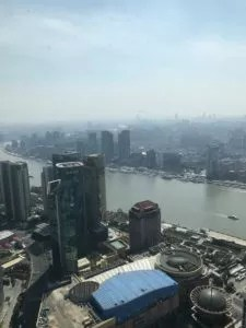 view of Puxi, Shanghai, from Oriental Pearl Tower