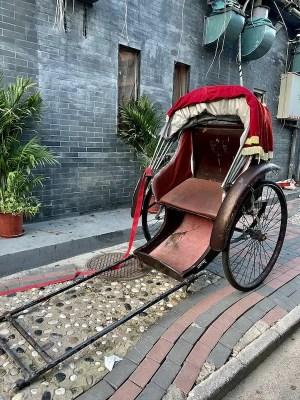 rickshaw on the streets of Beijing, China - onaroadtonowhere.com