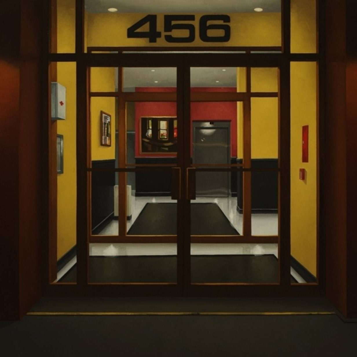 """""""Evening with Hopper"""": Peter Harris Paints Buildings Displaying the Artworks of Edward Hopper"""