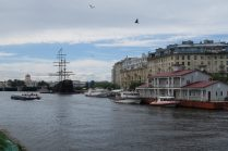 Vue sur le fleuve Neva à Saint Petersbourg